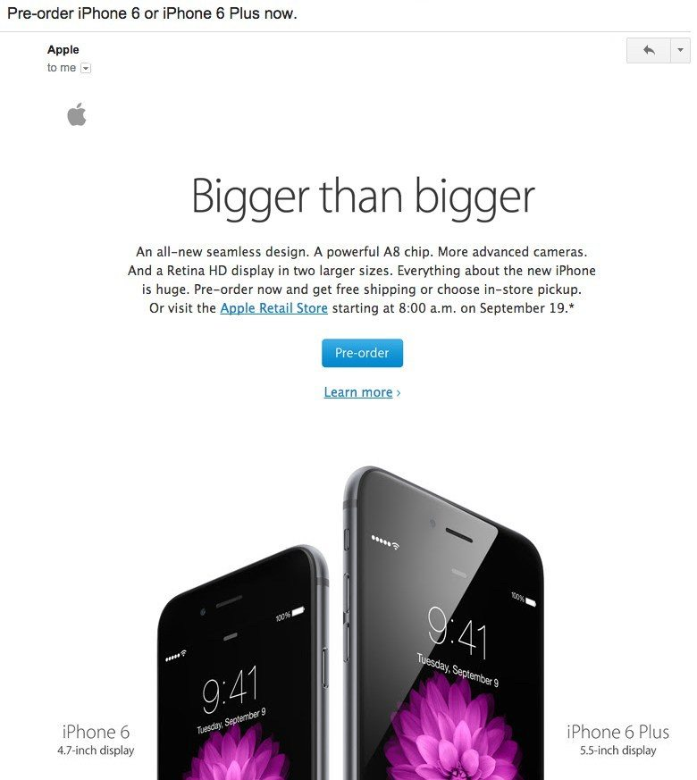 email marketing apple iphone