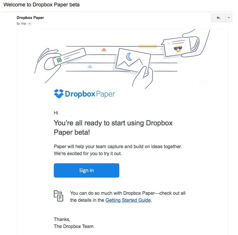 dropbox email marketing