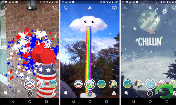 snapchat lenses and filters