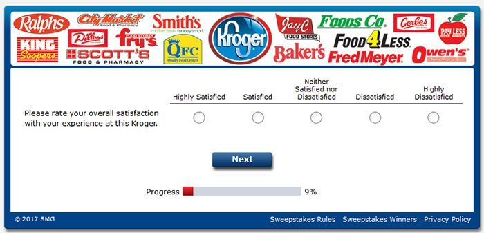 kroger feedback - overall satisfaction question