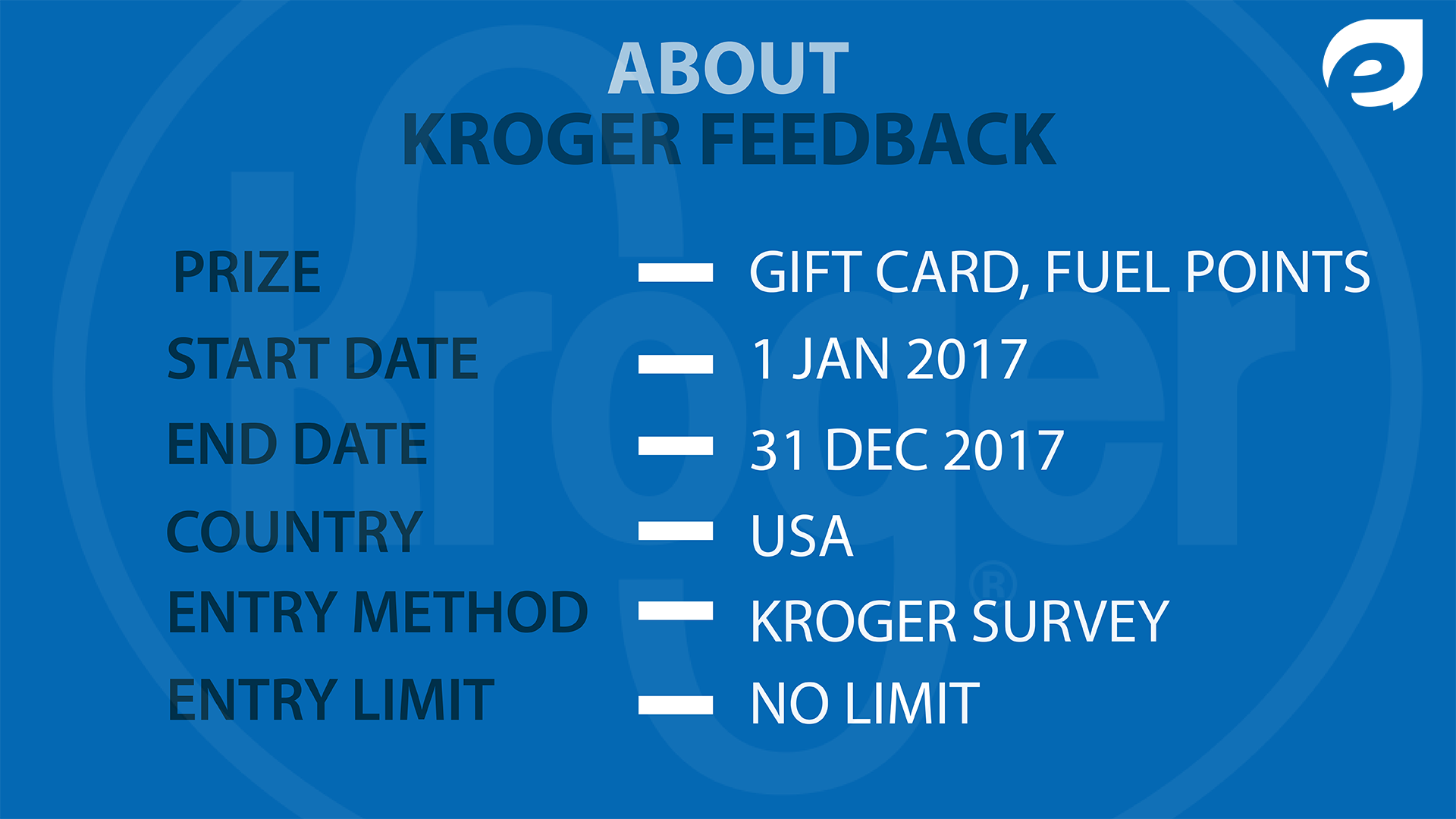 kroger feedback - about the survey