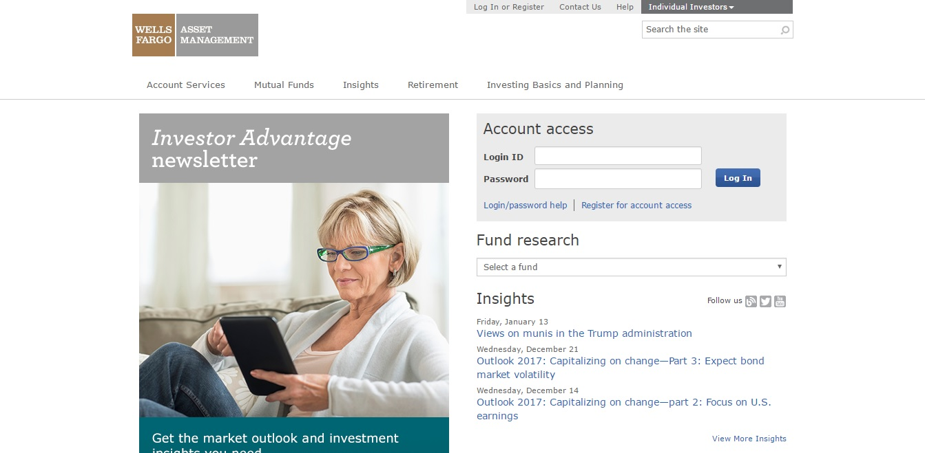 wells fargo advantage login