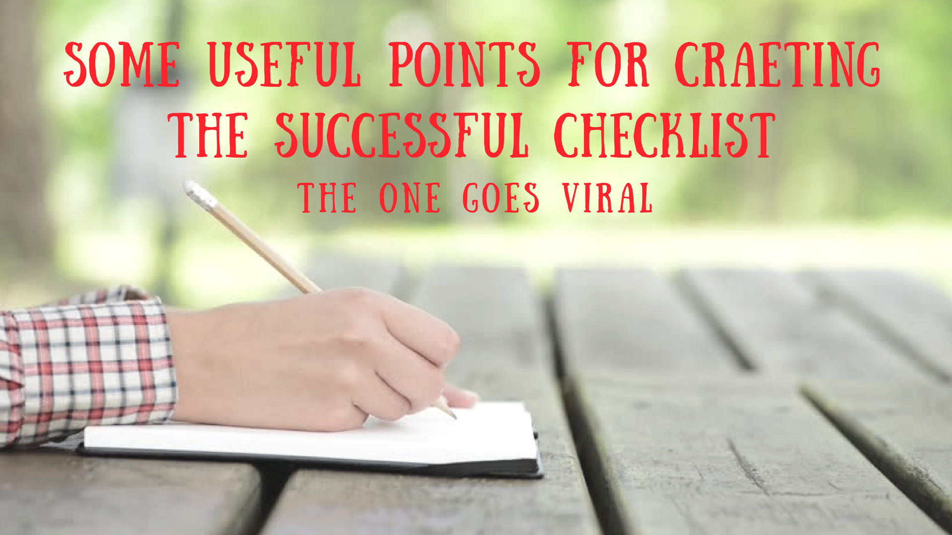 points about checklist