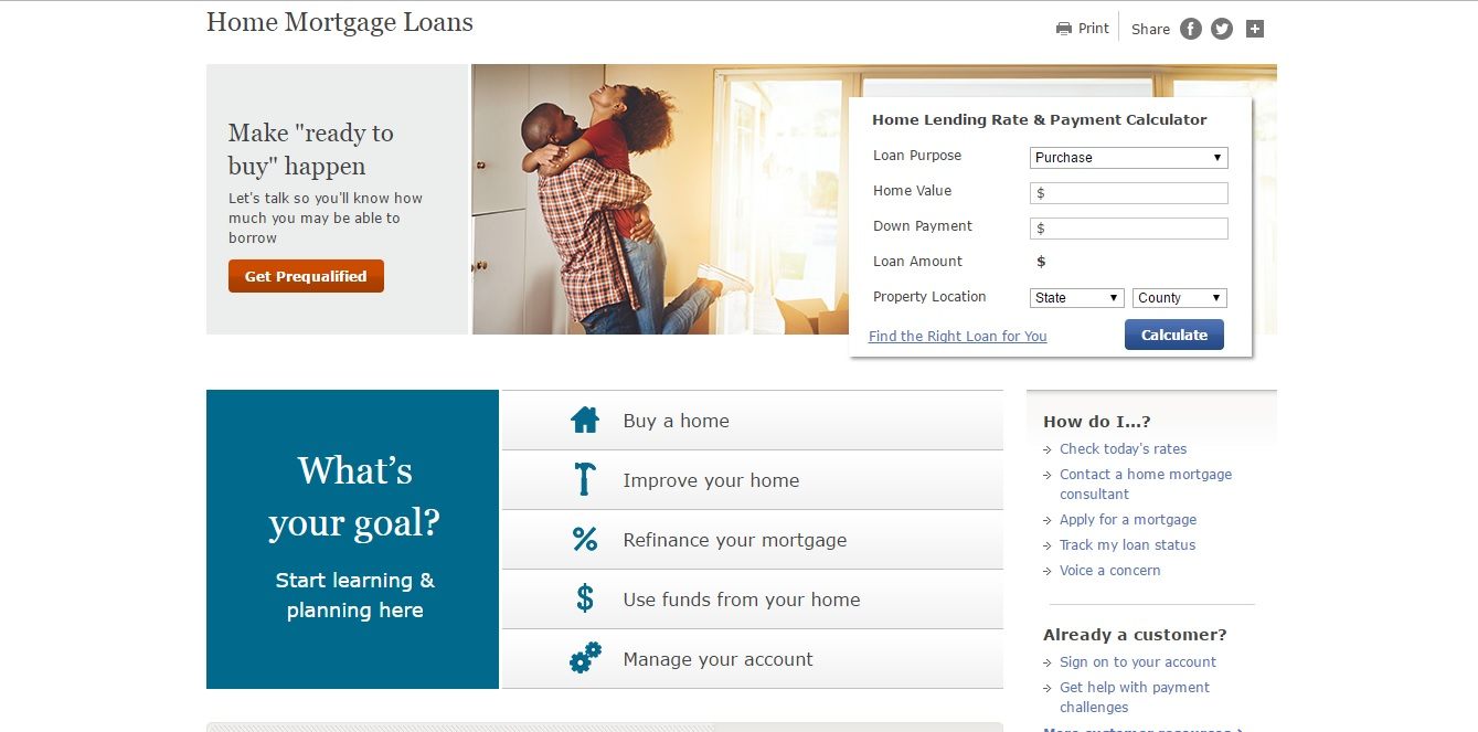 wells fargo login mortgage