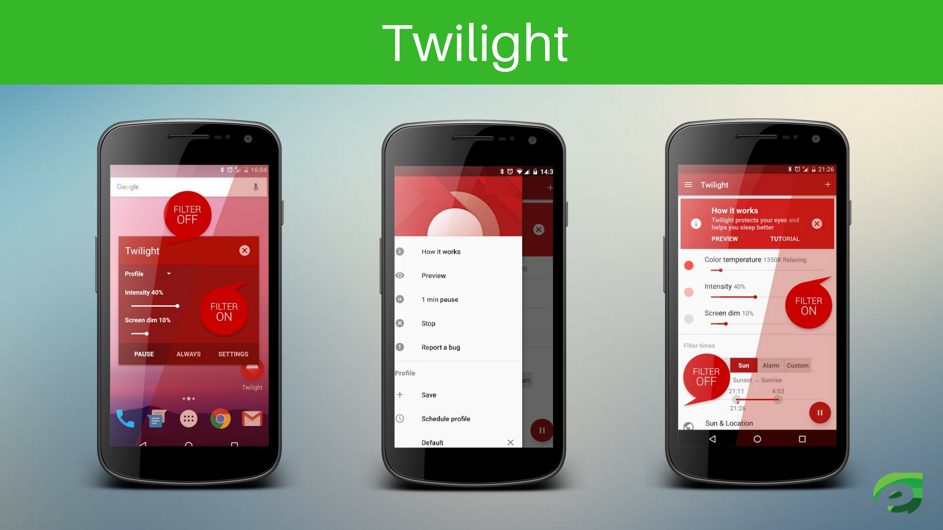 Twilight - Eye Protection Apps