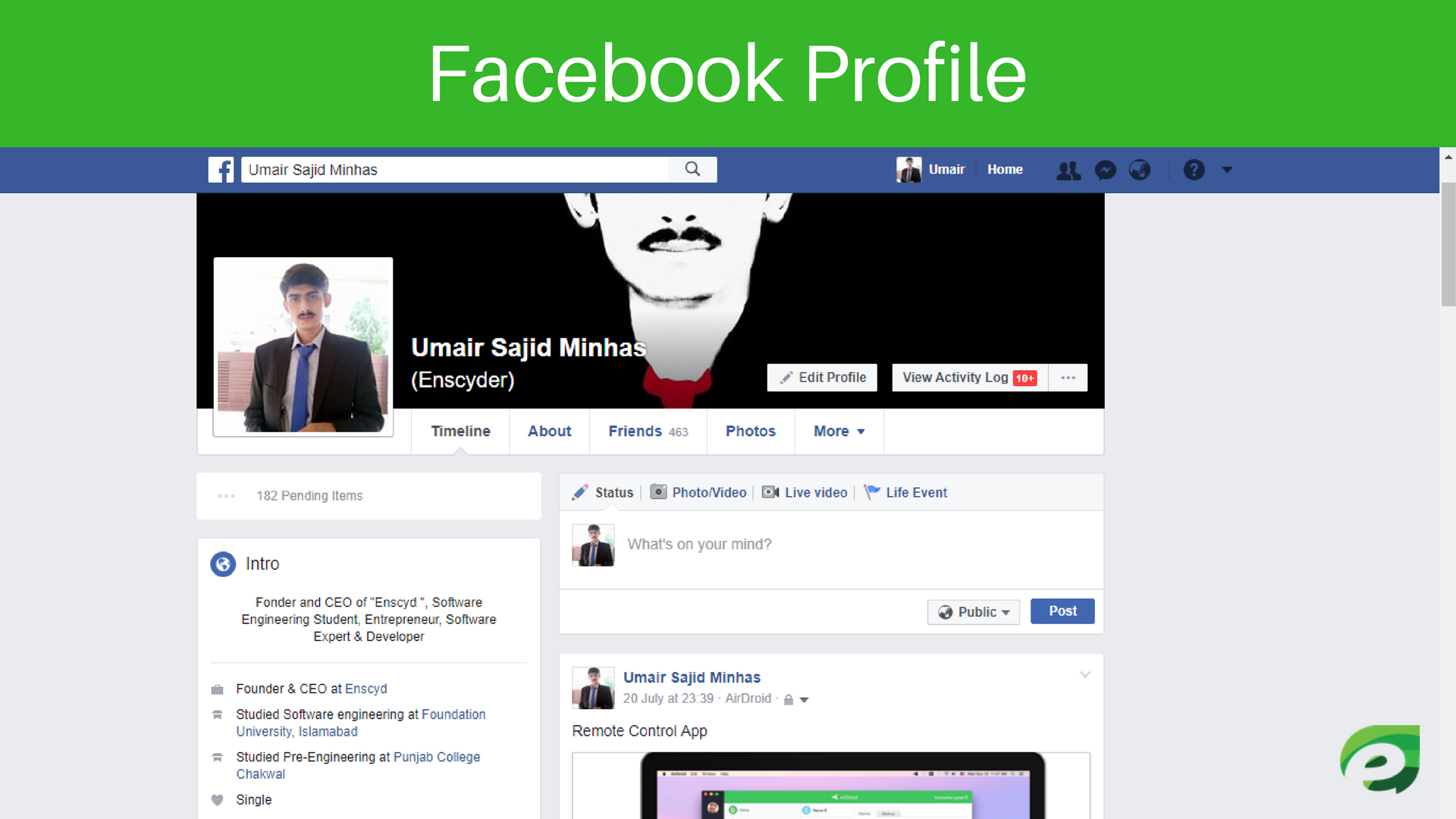 Facebook Profile - How Facebook Works