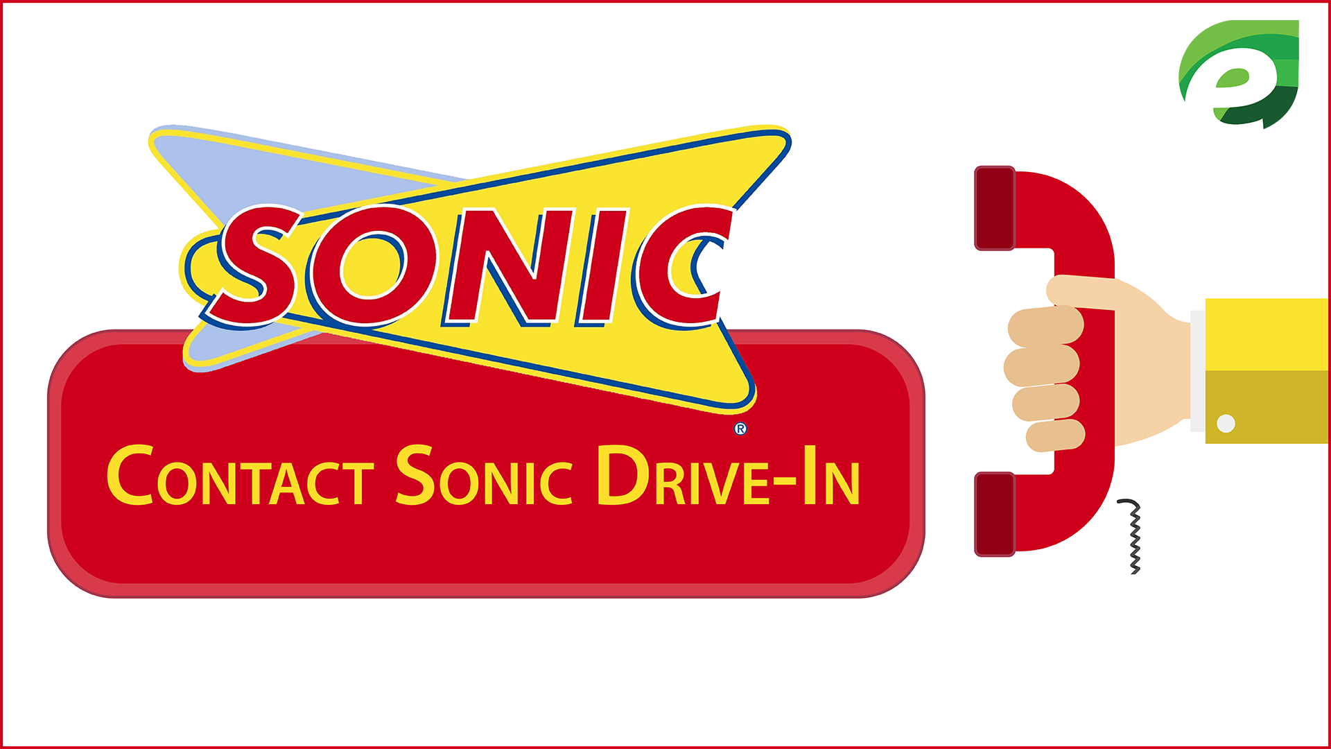 TalktoSonic customer survey - contact Sonic drive in restaurant