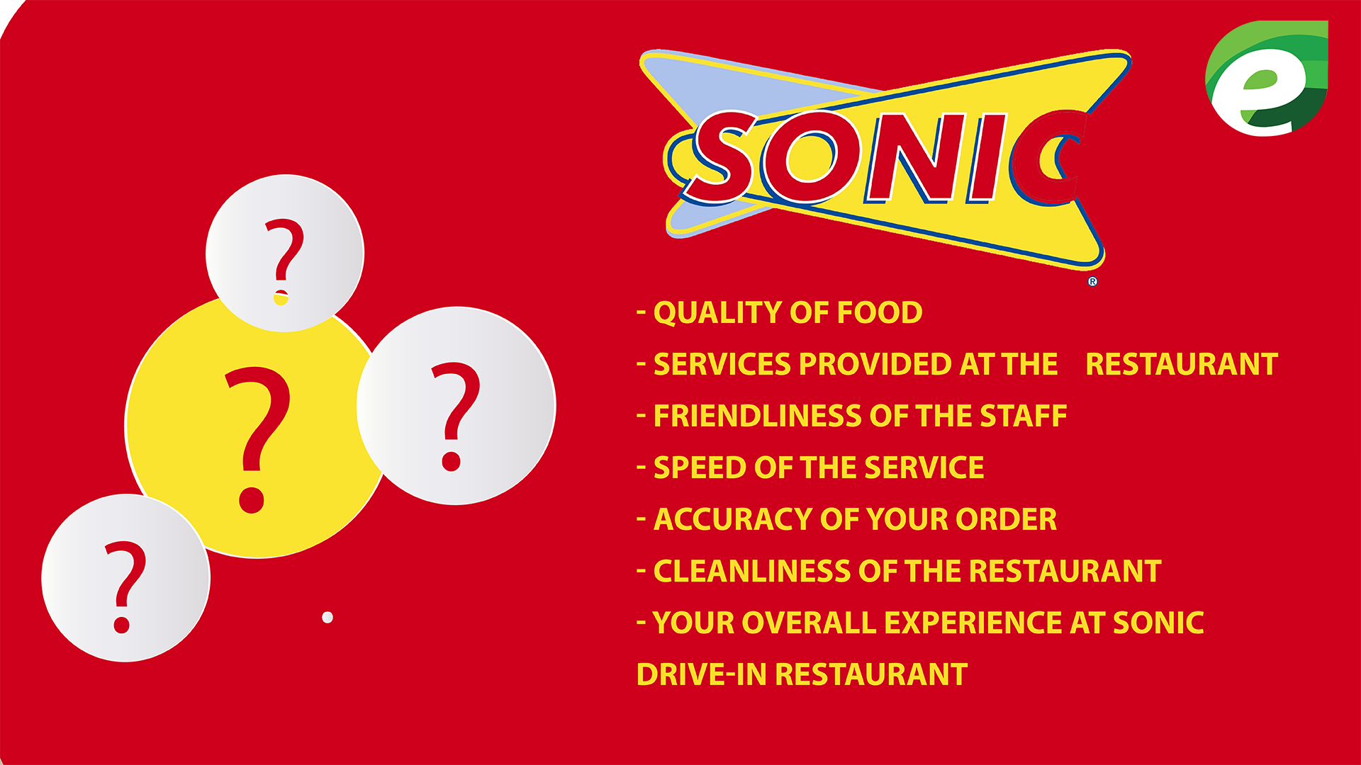 Talk To Sonic - Questions Asked in the survey