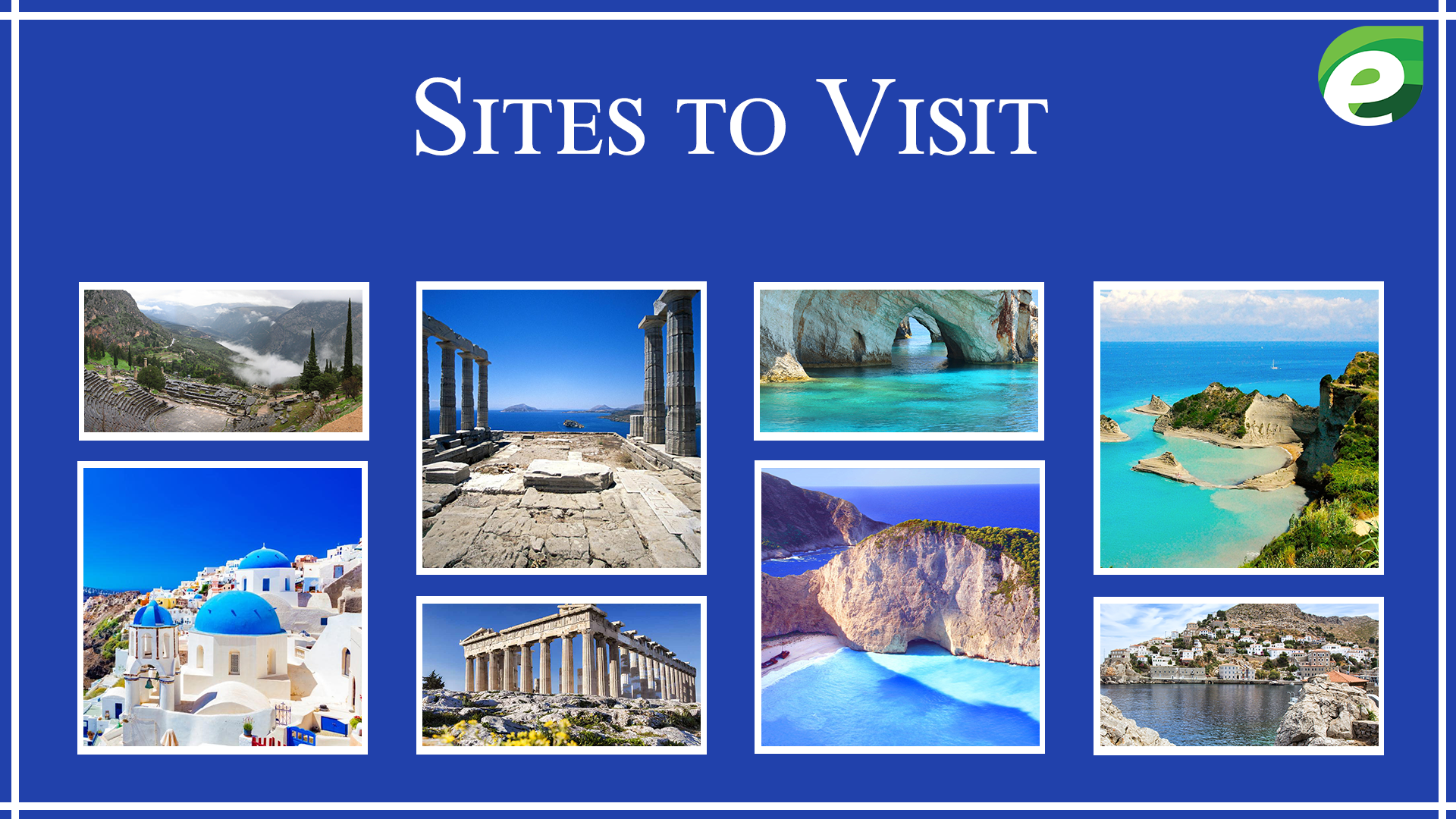 tips to travel Greece - sites to visit