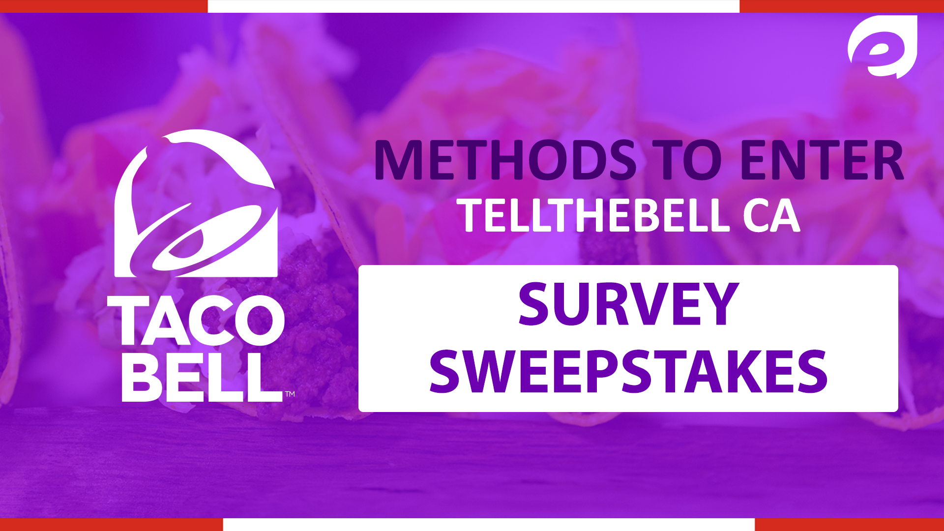 tellthebell canada - methods to enter the survey