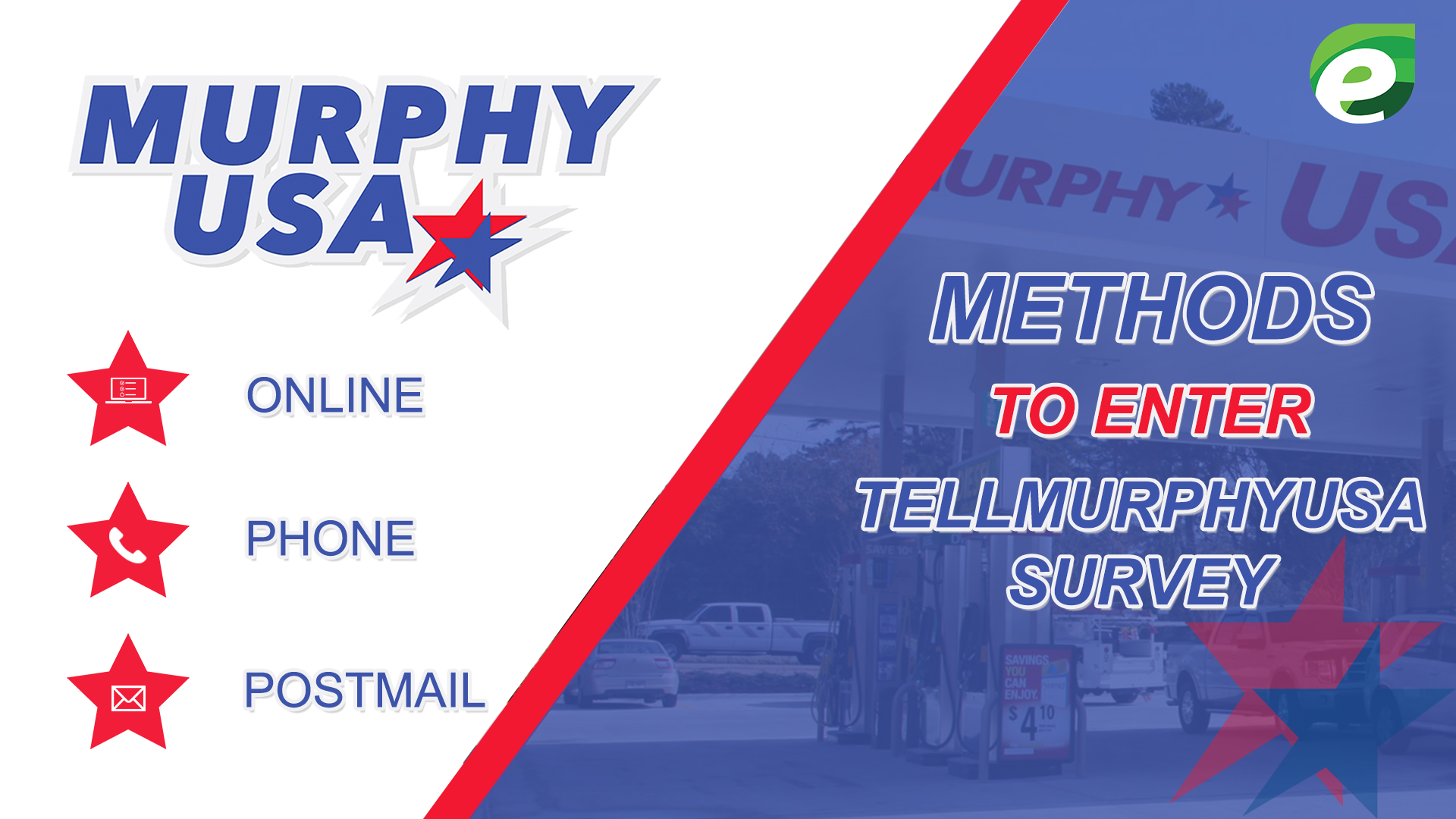 tell murphy - methods to enter the survey
