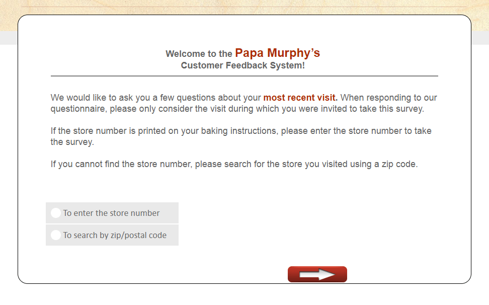 papa survey - official website