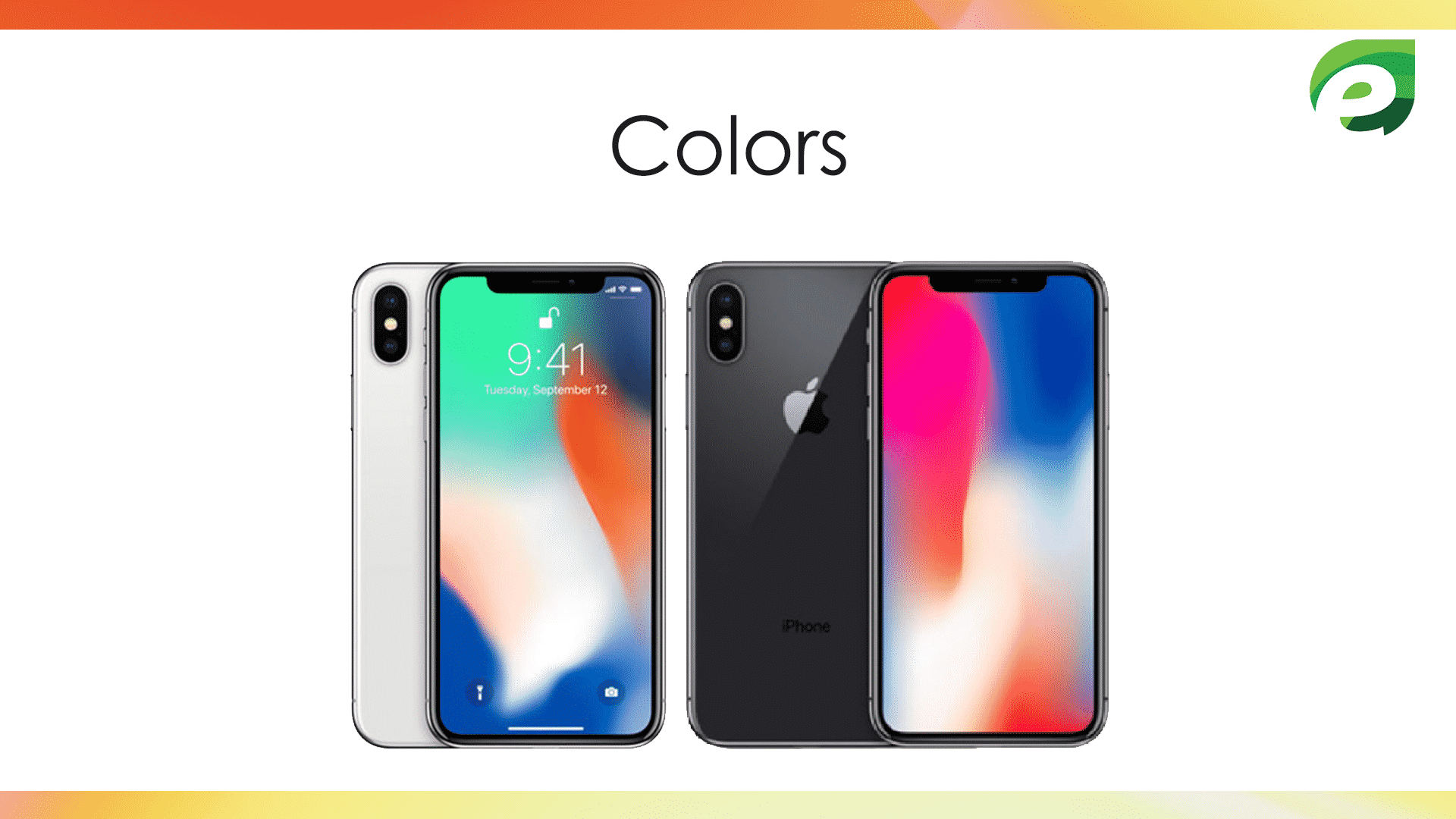 iphone x- colors