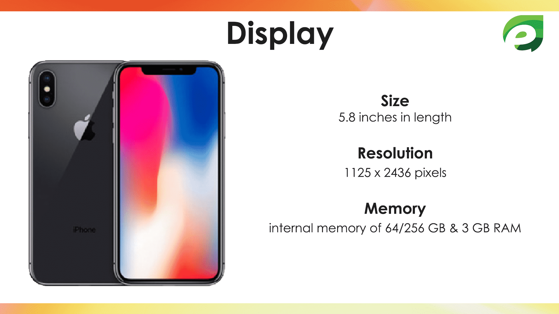 iphone x- Display