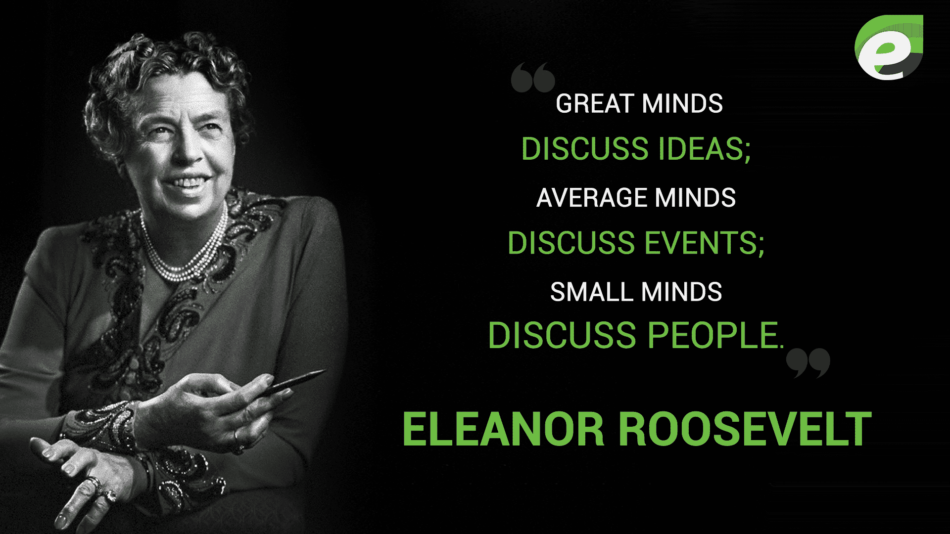 Famous Quotations By Eleanor: Inspirational Quotes By Famous People