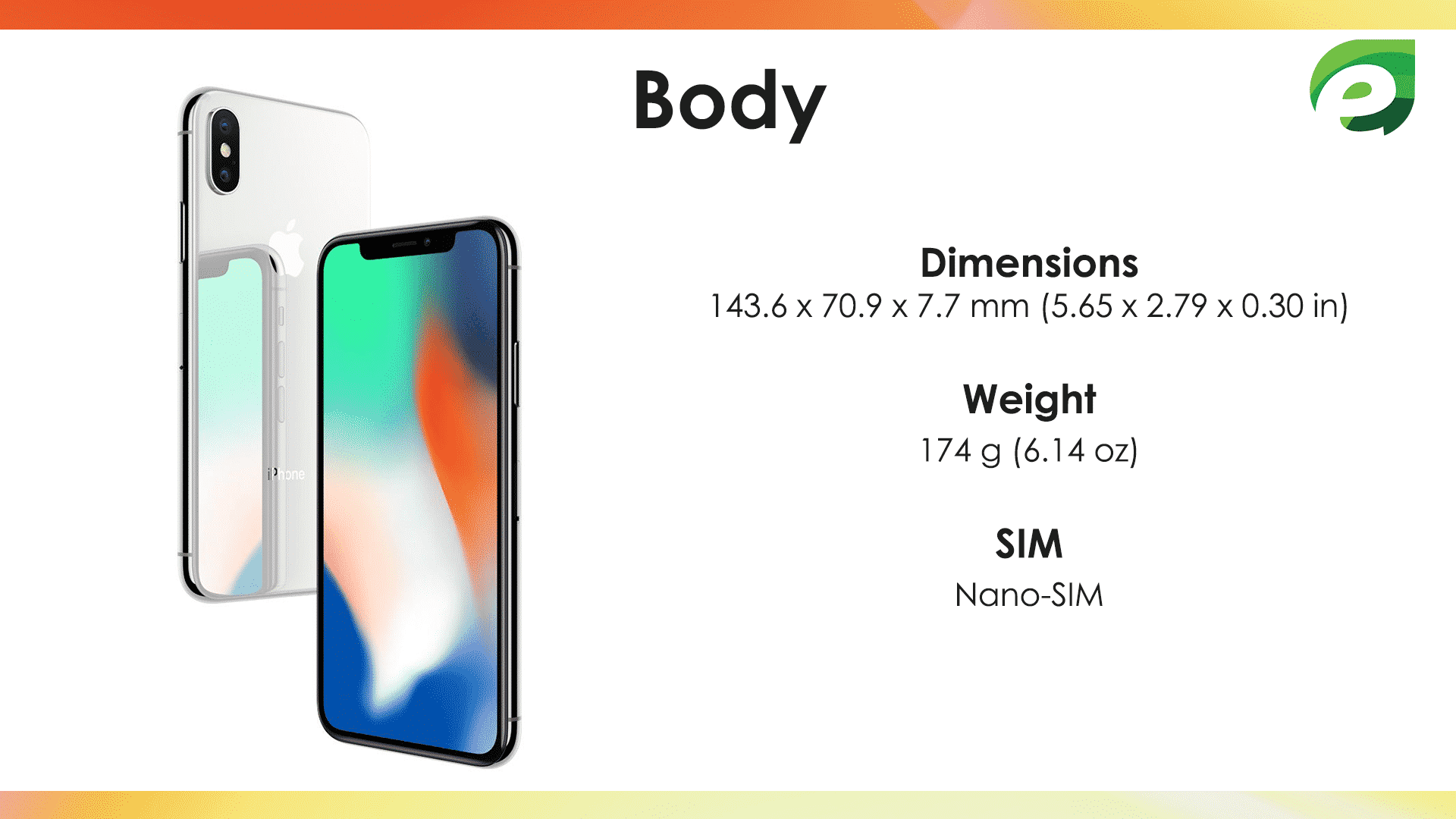 iphone x- body