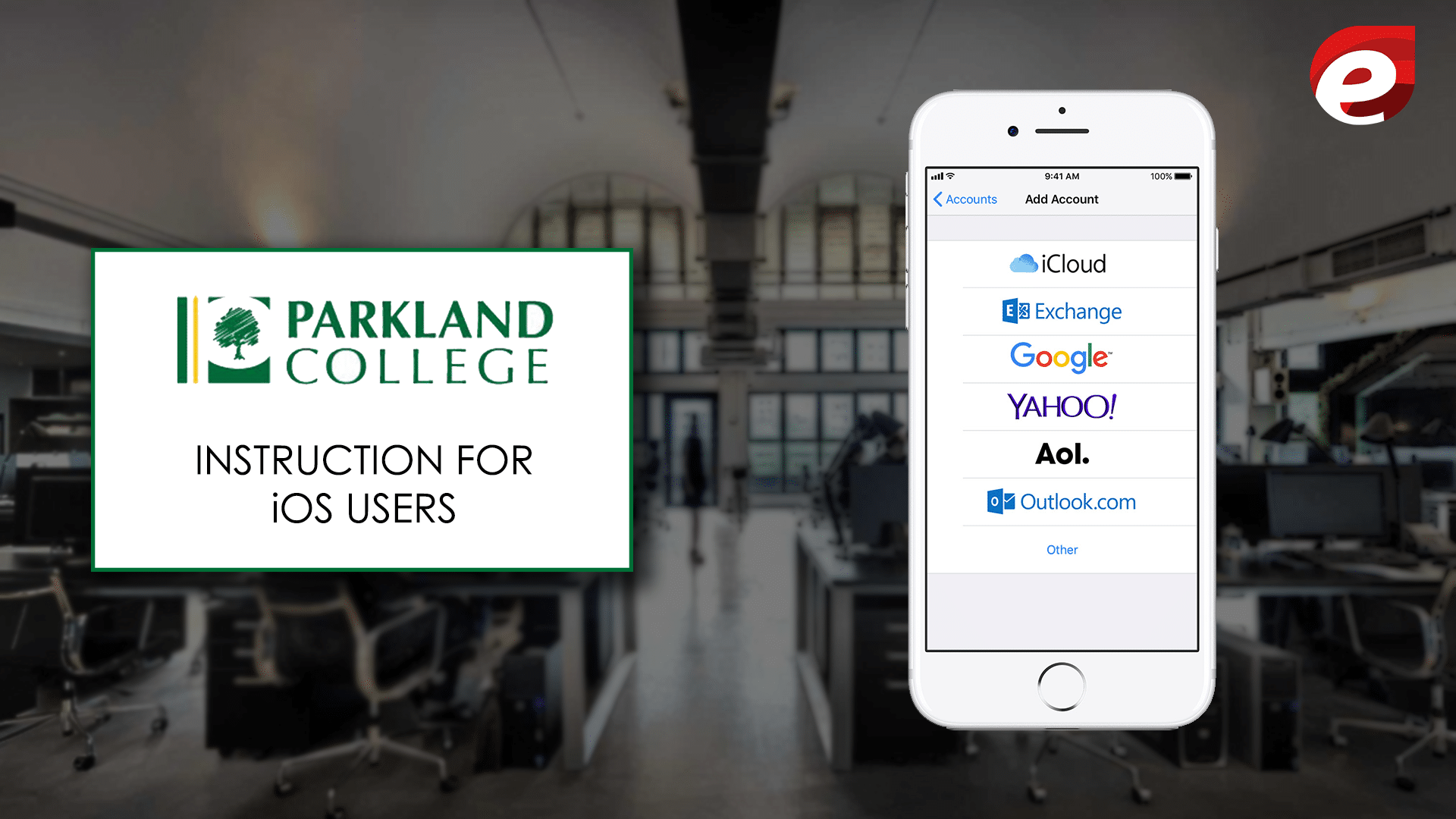 instruction for iphone users- Parkland webmail