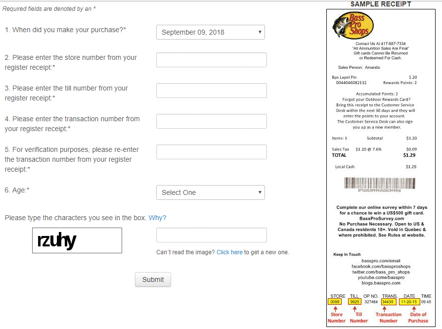 bass pro survey- step by step guide
