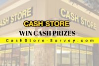 Cash Store customer survey
