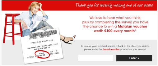 matalan-survey.co uk